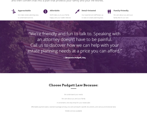 Padgett Law Website