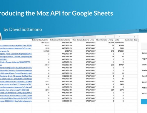 Introducing the Moz API for Google Sheets